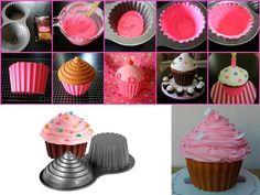 Maxi cupcake: con molde de chocolate queda mejor la parte de abajo. Perfecta!!
