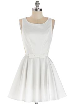 Classic Twist Dress in White. You like to consider yourself something of a modern-day style icon - you have impeccable taste, and value elegance and grace above all else, but you also like to keep things interesting! #white #modcloth