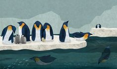Penguins a Frann Preston-Gannon illustration.