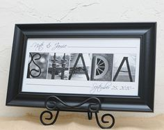 Personalized Name Frame anniversary wedding by artofwhimsyphoto, $54.00