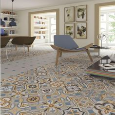 VODEVIL are porcelain tiles, from the MAISON-BOHEME collection, appearance hydraulic, perfect for your living room. Tiles R Us, Patchwork Tiles, Decorative Wall Tiles, Tub Tile, Tiling, Deco Retro, Italian Tiles, Encaustic Tile, Living Room Flooring