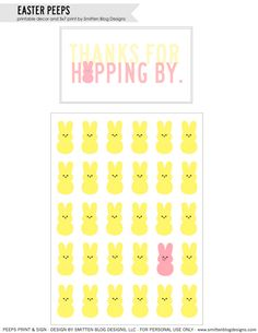Easter Bunny Treats card and Peeps Bunny 5x7 Print.