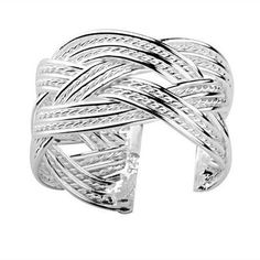 5a8f39c257a9 Celtic Rope Ring - Adjustable - One Size Fits All (.925 Sterling Silver  Electroplated