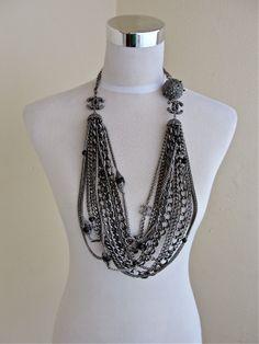 b4043255ea74e Chanel Bold Multi-Strand Twelve-Chain Necklace   Belt