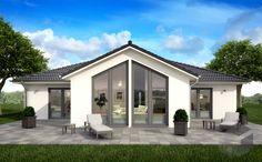 scanhaus bungalow regarding present property Modern Bungalow Exterior, Dream House Exterior, Bungalow House Plans, Bungalow House Design, Simple House Plans, Modern House Plans, House Layout Plans, House Layouts, Bungalows