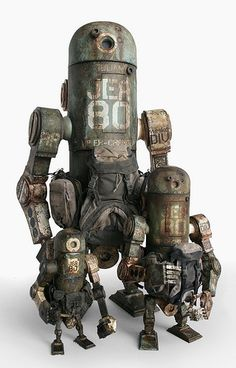 ronbeckdesigns:  World War Robot Toys | Artist: Ashley Wood
