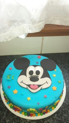 Mickey mouse cake Mickey Mouse Cake, Birthday Cake, Sweet, Kitchen, Desserts, Food, Cooking, Birthday Cakes, Meal