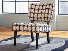 Ike Chair by CORT -- a classic 50s-style accent chair in a unique gray, black, and white pattern! | cort.com