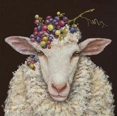 decorative napkins by vickie sawyer vineyard sheep — MUSEUM OUTLETS Illustrations, Illustration Art, Decorative Napkins, Sheep Art, Sheep And Lamb, Whimsical Art, Art Plastique, Animal Paintings, Pet Portraits