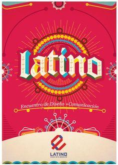 Latino Encuentro Latinoamericano. by Fausto Baena Garcés, via Behance