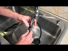 ▶ How to Change a Kitchen Sink Spray - YouTube