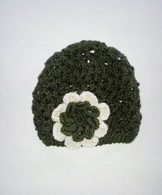 Eyelet Lace Woman's Hat with Flower by LaBufandaLLC on Etsy