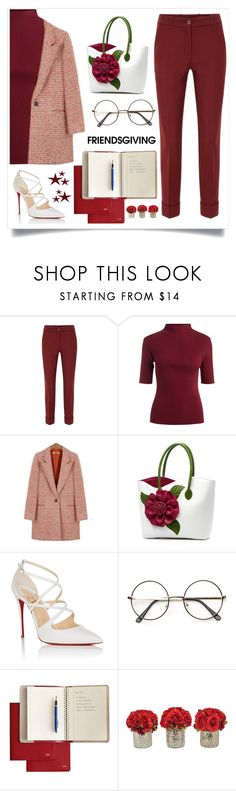 """""""Friendsgiving"""" by marym17 ❤ liked on Polyvore featuring Christian Louboutin, Mark & Graham and The French Bee"""