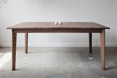 Ventura Dining Table With Leaf Inserts - Solid Walnut