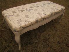 Coffee table repuposed and made into a bench or ottoman!