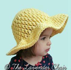 Brickwork Summer Sun Hat -  Newborn-Toddler-Child Free Crochet Pattern - The Lavender Chair