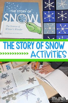Snow lesson plans for your classroom. Students engage in reading and writing activities to better understand how snow forms. 2nd Grade Activities, New Years Activities, Snow Activities, Kindergarten Activities, Writing Activities, Science Activities, Classroom Activities, Grade 2 Science, Preschool