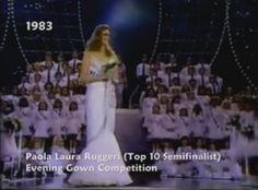 Miss Venezuela Paola Ruggeri,  en su presentación en Traje de Gala, en el Miss Universe 1983.