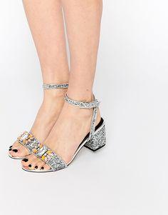 Image 1 ofASOS HEMISPHERE Co-ord Heeled Sandals