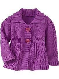 Cable Knit Sweater Cardis for Baby