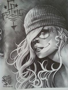 Steve Soto - i ❤ chicano Chicano Tattoos, Lettrage Chicano, Chicano Drawings, Body Art Tattoos, Art Drawings, Cholo Tattoo, Arte Cholo, Cholo Art, Pinup