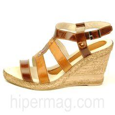 Дамски обувки с удобна платформа от естествена кожа