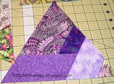 Love these!!! Stitchin' Therapy: Making Triangle Units
