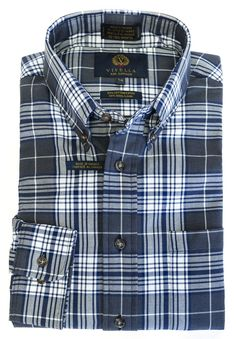 Now available at The Abbey Button-Down Colla... Check it out here http://theabbeycollection.ca/products/button-down-collar-long-sleeve-plaid-sport-shirt-by-viyella-9?utm_campaign=social_autopilot&utm_source=pin&utm_medium=pin
