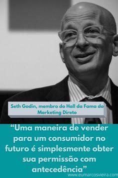 #marketingdigital #frasesdemarketing #dicsdemarketing Seth Godin, Marketing Digital, Einstein, Direct Marketing, Make Money On Internet, Marketing Quotes
