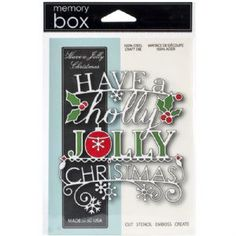 Memory Box Die: Have A Jolly Christmas
