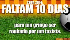 Faltam 10 dias pra Copa