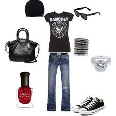 gotta love a cute punk outfit...love my chucks :)