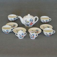 Juego de té de juguete Vintage China