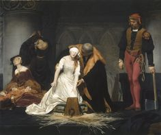 L'Exécution de Lady Jane Grey, 1833 by  Paul Delaroche