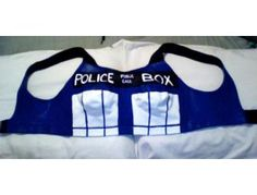 TARDIS (A Doctor Who Tribute) - by Kelli Bosarge - The Painted Bra Art Project - Bid Now!