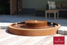 Cortenstahl Gartenbrunnen-Referenzen Diy Garden Fountains, Water Features, Dog Bowls, Designer, Outdoor Decor, Home Decor, Wall Fountains, Fountain Garden, Corten Steel