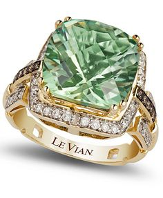 Le Vian Green Amethyst (6 ct. t.w.) and Diamond (1/4 ct. t.w.) Ring in 14k Gold Macy levain 2k
