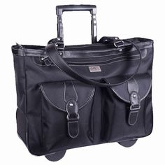 """Clark & Mayfield Marquam Rolling Laptop Tote 18.4"""""""