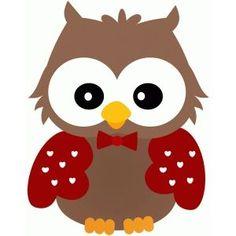 Silhouette Design Store - View Design : valentine owl w bow tie Owl Applique, Applique Quilt Patterns, Owl Patterns, Owl Clip Art, Owl Art, Owl Crafts, Paper Crafts, Owl Templates, Applique Templates