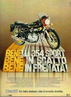 Pubblicità anni 70 Benelli
