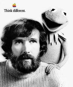 peopl, hero, stuff, jim henson, inspir, apples, frogs, appl ad