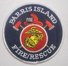 USMC PARRIS ISLAND SOUTH CAROLINA FIRE RESCUE PATCH UNUSED