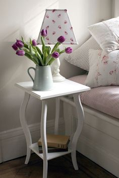 Square table perfect as bedside or lamp table