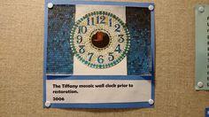 Tiffany Room, Mosaic Wall, Exhibit, Restoration, Clock, Art, Watch, Art Background, Kunst
