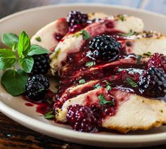 Grilled Chicken with Blackberry Sweet and Sour Sauce - #chicken, #blackberry, #recipe