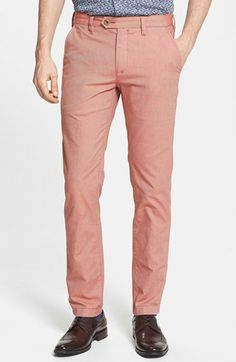 8b3d9c2c3b Ted Baker London 'Twiltro' Slim Fit Cotton Twill Trousers available at  #Nordstrom Ted