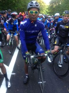 Sealskinz Ambassador Corey Hilliard ready to rock at the Campagnolo Grand Fondo in New York! #whatevertheweather