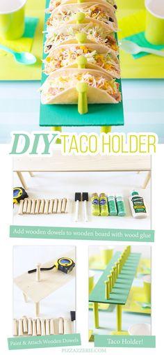 How to Make a DIY Taco Holder! http://Pizzazzerie.com