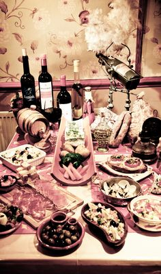 """Selection of Tapas and Wines with our resident Chicken """"Branca"""". @cam & Bread Portuguese Restaurant - Cafe - Tapas Bar"""