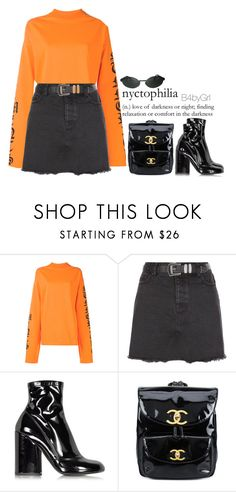 """Gossip"" by b4bygrl ❤ liked on Polyvore featuring Vetements, New Look, Marc Jacobs, Chanel and Persol"